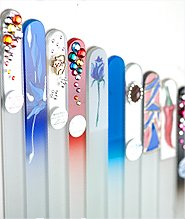 Crystal glass nail files from Czech Republic
