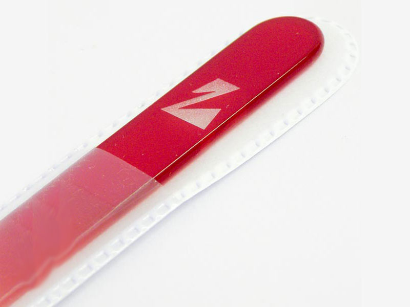 Etched crystal nail file