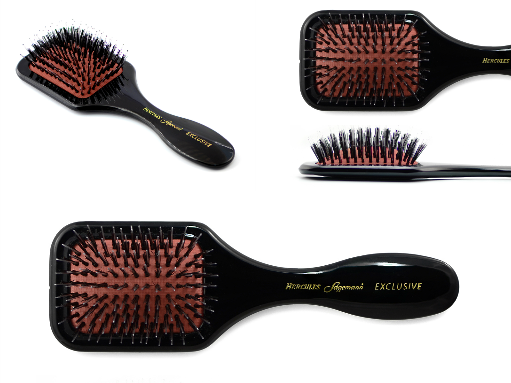 Exclusive small wellness paddle hair brush