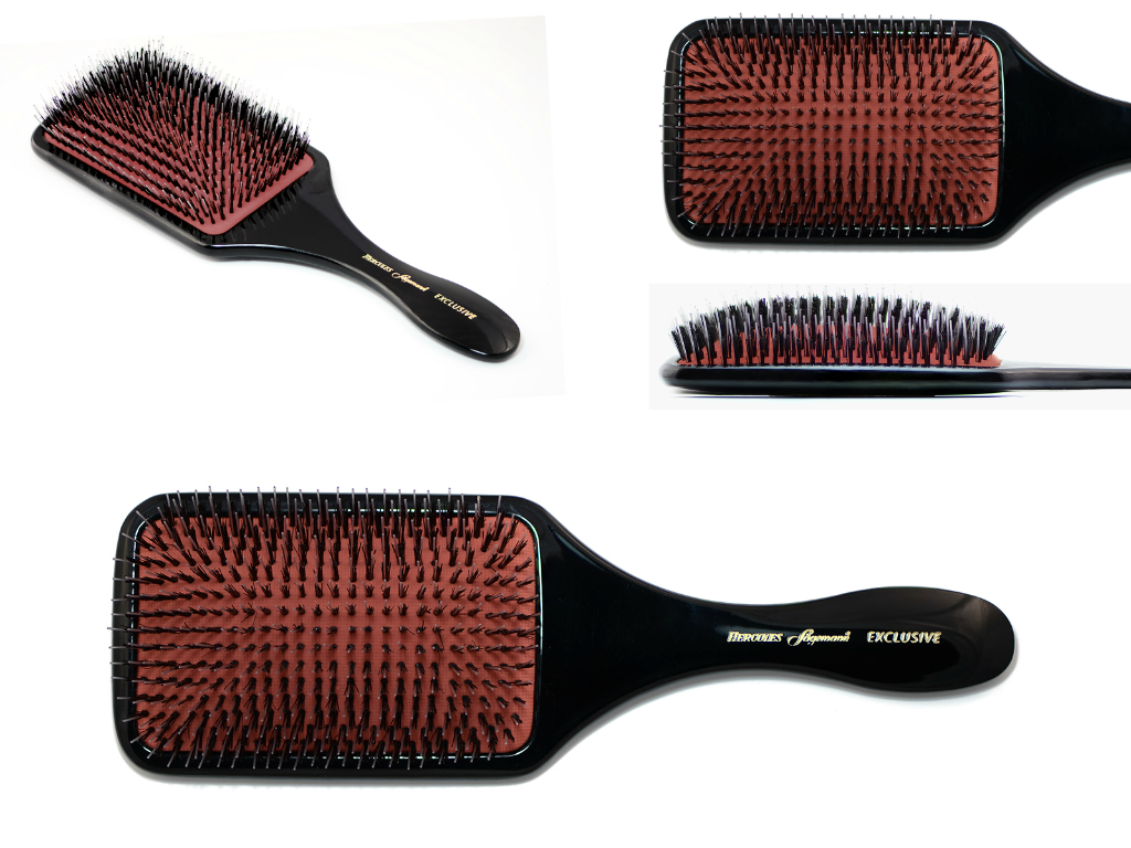 Exclusive large wellness paddle hair brush