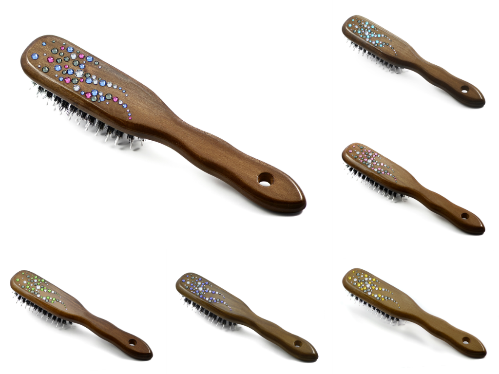 Hair brushes with Swarovski crystals
