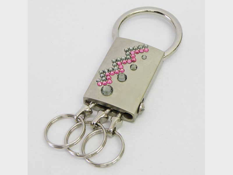 Key chains with Swarovski crystals
