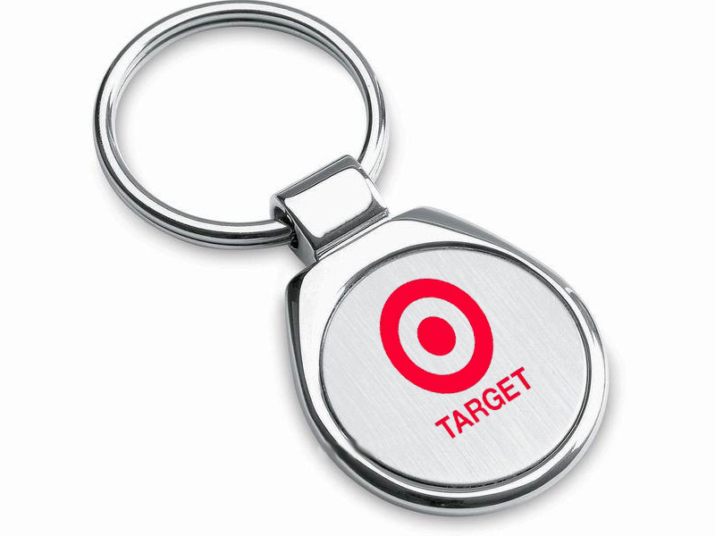 Promotional key ring with printed logo