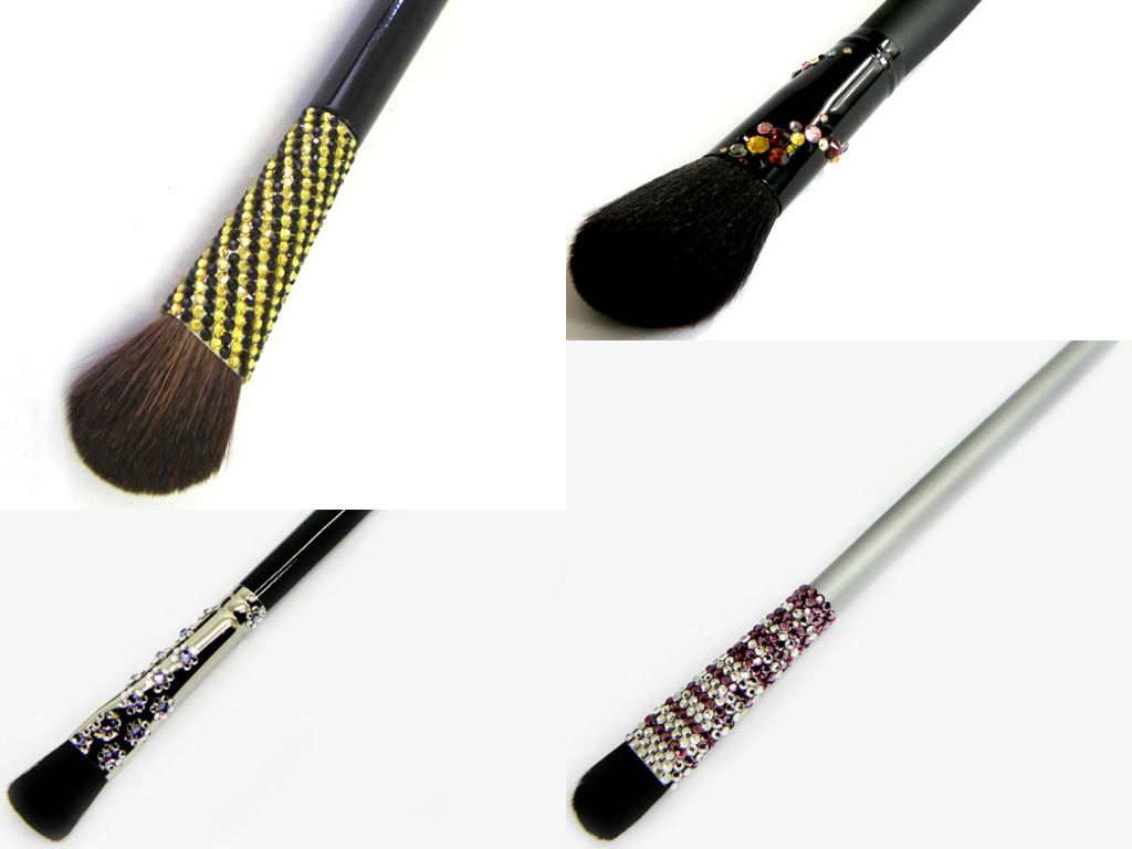Make up brushes with Swarovski crystals