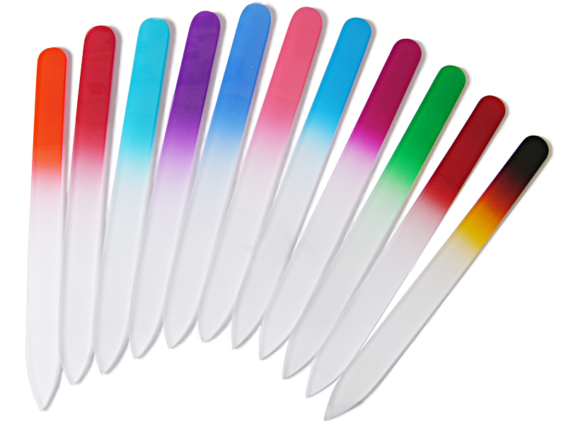 color crystal nail files