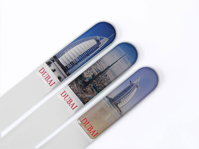 Souvenir crystal glass nail files
