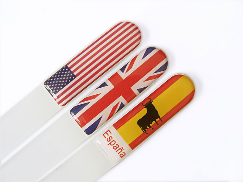 Souvenir glass nail files