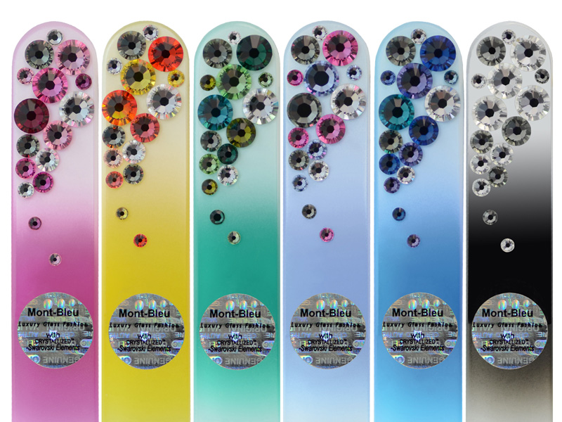 Crystal nail files with Swarovski Elements