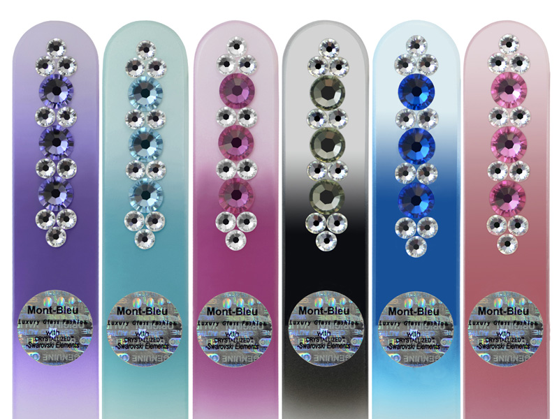Glass nail files with Swarovski Elements