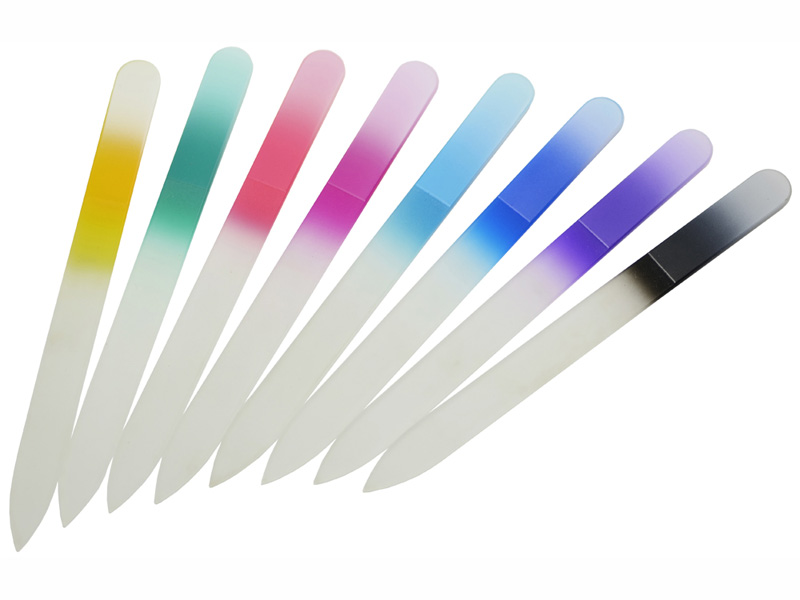 Color glass nail files